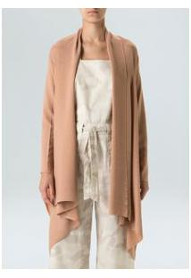 Casual Knit Cardigan-Nude