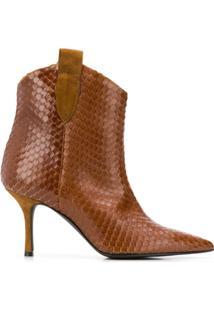 Marc Ellis Ankle Boot Texturizada - Marrom