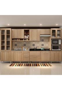 Cozinha Compacta Sem Tampo 8 Peças 5806-S4 Sicília - Multimóveis - Argila Acetinado