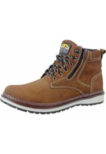 Bota Coturno Em Couro Bell Boots Chumbo