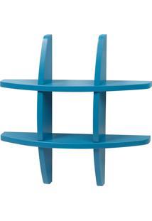 Prateleira Decorativa Pequena Taylor 600 Azul - Maxima