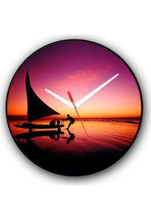 Relógio De Parede Colours Creative Photo Decor Decorativo, Criativo E Diferente - Jangada E Pescador