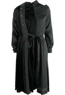 Junya Watanabe Vestido Estilo Trench Coat - Preto