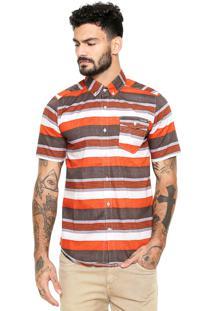 Camisa Volcom El Rancho Laranja/Marrom