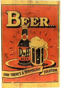 Quadro Zona Criativa Duff Beer Laranja