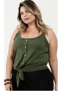 Blusa Feminina Textura Botões Alças Finas Marisa