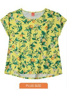 Blusa Amarela Mullet Estampada