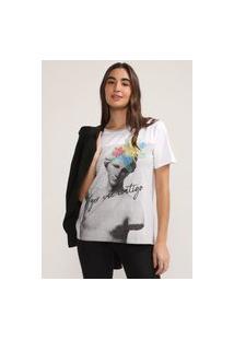 Camiseta Desigual Roma Branca/Cinza