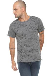 Camiseta Fiveblu Estampada Cinza