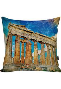 Capa De Almofada Grécia- Azul & Bege Escuro- 45X45Cmstm Home