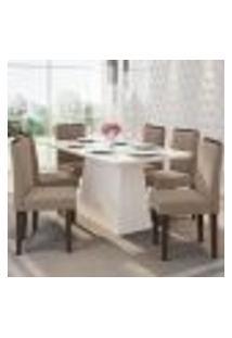 Mesa Barbara 160 Cm Off White 06 Cadeiras Amanda Castanho Vl02 New Ceval