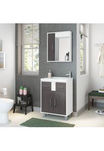 Conjunto De Banheiro Stm Móveis S106 Branco Scheffield Se