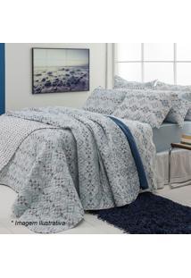 Conjunto De Cobre-Leito Unique King Size- Azul Claro & Asantista