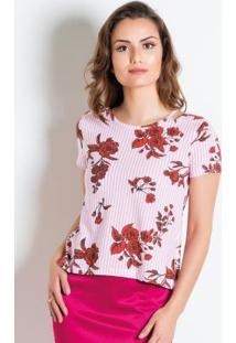 Blusa Rosa Com Recortes Vazados Moda Evangélica