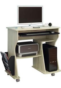 Mesa Para Computador 160 Com Rodizío Capuccino E Preto