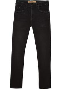 Calça John John Slim Nevada Jeans Preto Masculina (Jeans Black Escuro, 42)