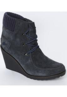 Sneaker Acamurçado Com Tag - Azul Marinho - Salto: 8Lacoste