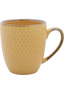 Caneca De Porcelana Thaya Amarelo 400Ml