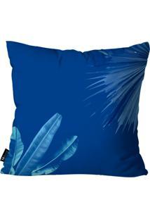 Capa Para Almofada Mdecore Folhas Azul 35X35