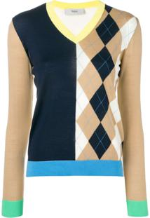 Pringle Of Scotland Blusa De Tricô Colour Block - Neutro