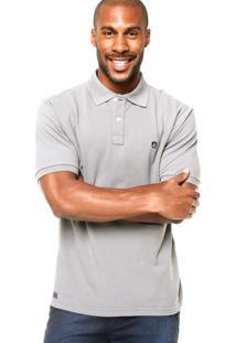 Camisa Polo Mr. Kitsch Manga Curta Basic Cinza