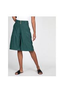 Bermuda Pantacourt Witz Jeans Verde Escuro