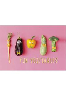 "Tapete ""Fun Vegetables""- Rosa & Verde- 60X40Cm- Tapetes Junior"