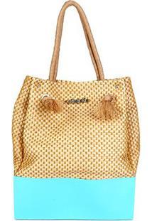 Bolsa Petite Jolie Shopper Wind Feminina - Feminino-Azul