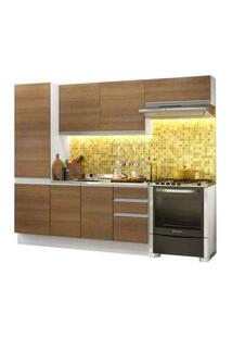 Cozinha Compacta Madesa 100% Mdf Acordes Glamy Com Armário E Balcão Branco/Rustic Rustic