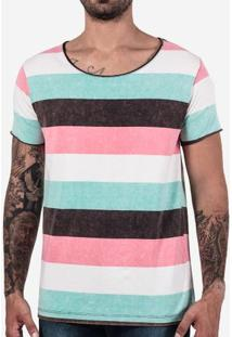 Camiseta Listrada Marmorizada 102161
