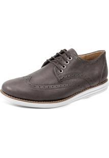 Sapato Social Derby Sandro Moscoloni Creed Marrom Escuro