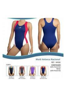 Maiô Hammerhead Helanca Nacional - Vermelho E Azul
