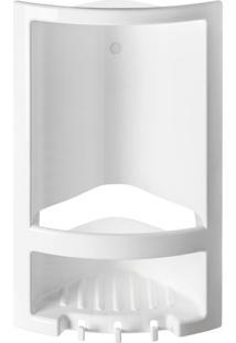 Porta Shampoo Primafer, Pvc, Com Ganchos, Branco