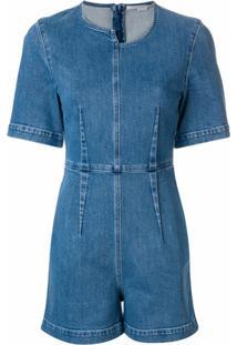 Stella Mccartney Macacão Jeans Assimétrico - Azul
