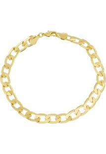 Pulseira Grumet Com 8Mm Tudo Jóias Folheada A Ouro 18K - Masculino-Dourado