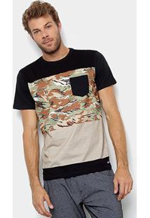 Camiseta Element Bloc Camo-El01A0495 - Masculino-Verde+Preto
