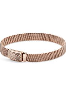 Bracelete Pandora Reflexions™ Com Fecho Em Pavé