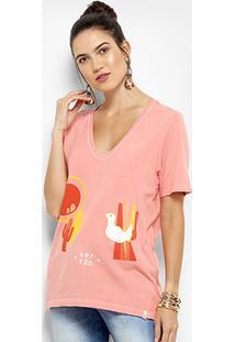 Camiseta Cantão Passarinho Feminina - Feminino