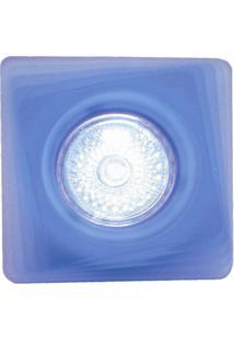 Spot Dicróica Fixo Vidro Quadrado Mr16 50W 127V Azul