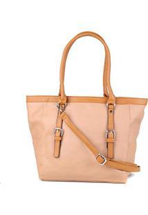 Bolsa Pagani Shopper Tote Bag Grande Feminina - Feminino-Areia