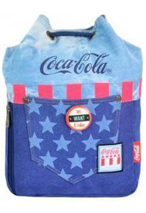 Bolsa Compredeboa Coca-Cola Saco Nation - Unissex-Azul