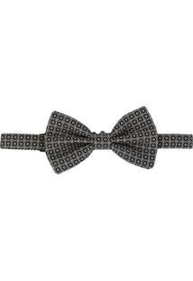 Dolce & Gabbana Gravata Borboleta Jacquard Estampada - Preto