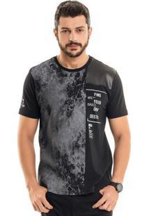 Camiseta Com Recortes Preto Bgo