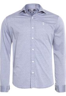 Camisa Masculina Social Pois - Cinza