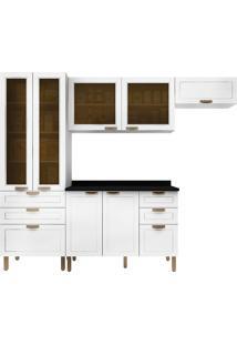 Cozinha Modulada 5 Peças Com Tampo E Nevada 5678Vdtp-Multimóveis - Branco Premium