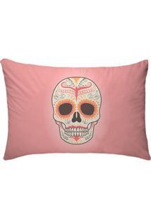 Fronha Para Travesseiros Nerderia E Lojaria Caveira Mexicana Rosa Colorido
