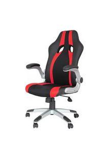 Cadeira Office Speed Preta E Vermelho Com Base Em Polipropileno - 45068 Preto