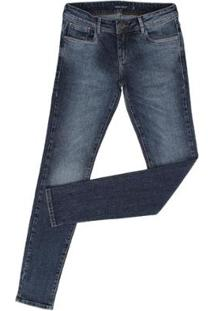 cc46b1946 ... Calça Jeans Skinny Tassa Bordado Feminina - Feminino-Azul Escuro