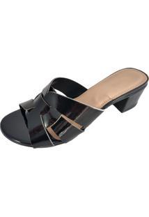 Sandialia Salto Sapatoweb Verniz Preto