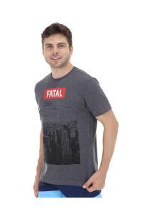 Camiseta Fatal Estampada 20317 - Masculina - Cinza Esc Mescla
